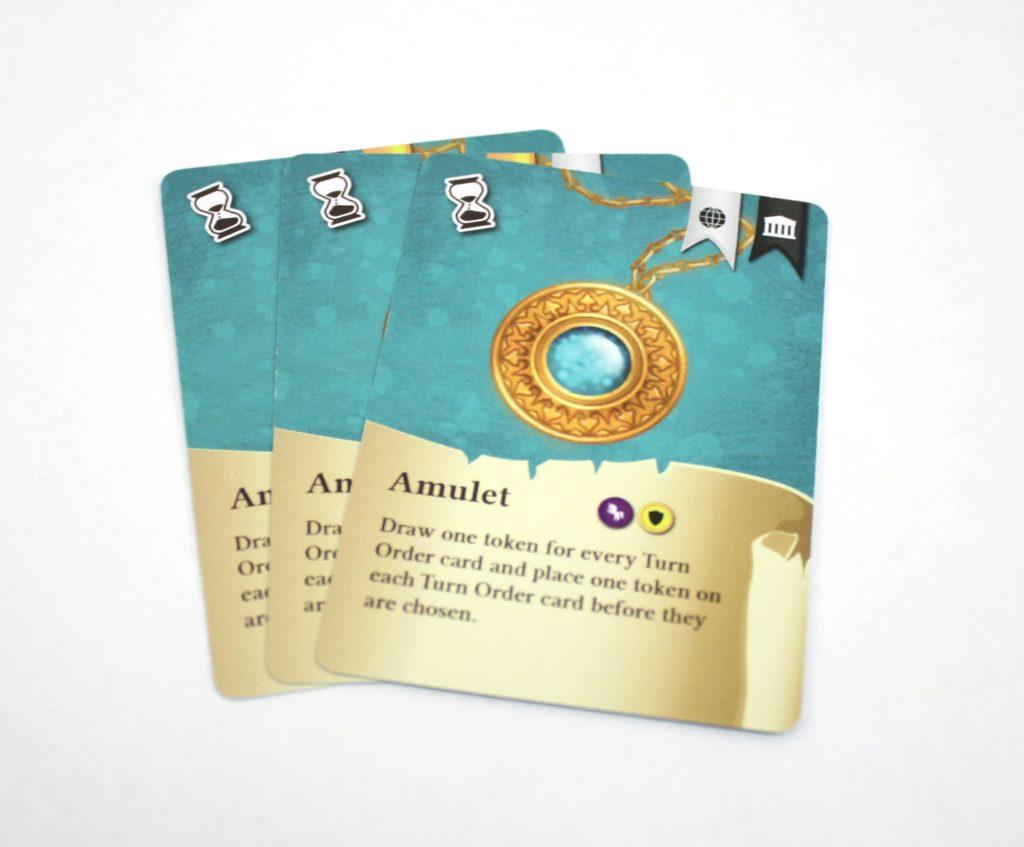 Choosing turn order cards