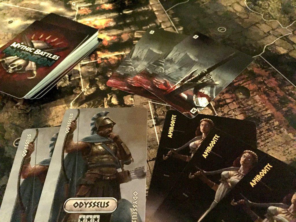 Mythic Battles card play