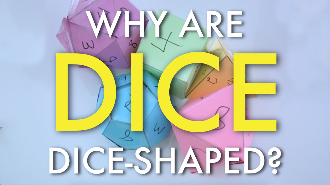 Why are dice, dice shaped? header