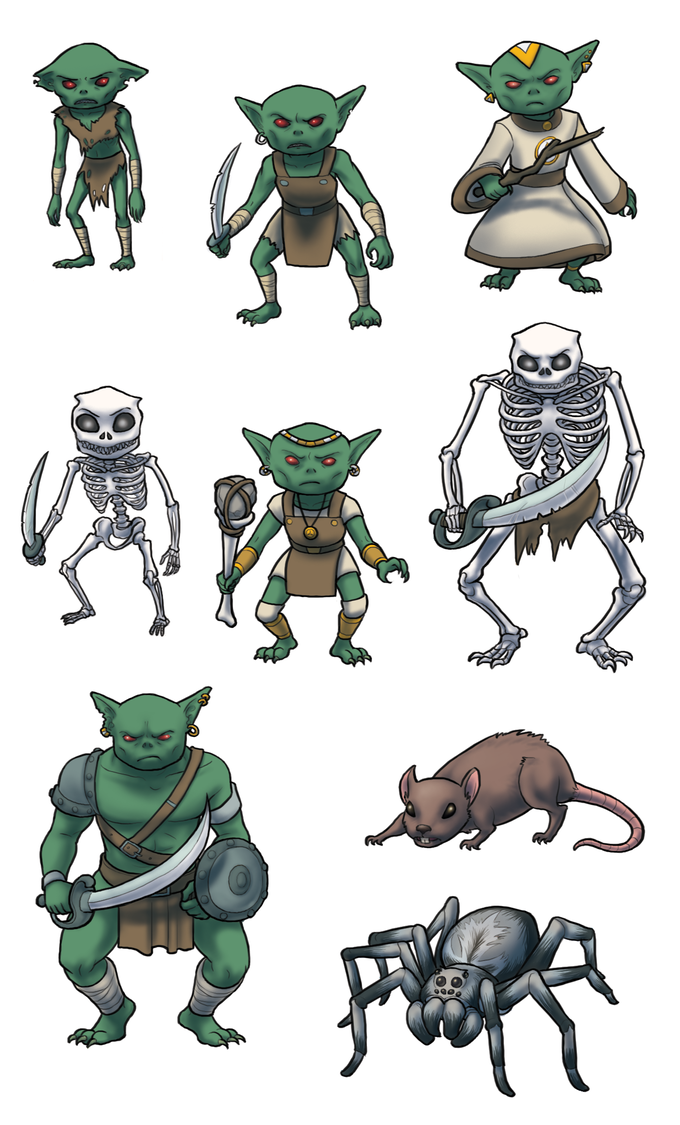 Goblin and monster illustrations