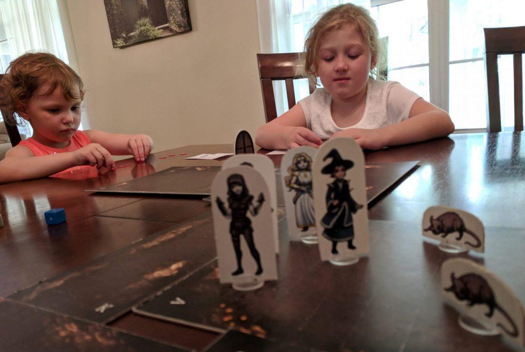 Kids deciding what action to take next
