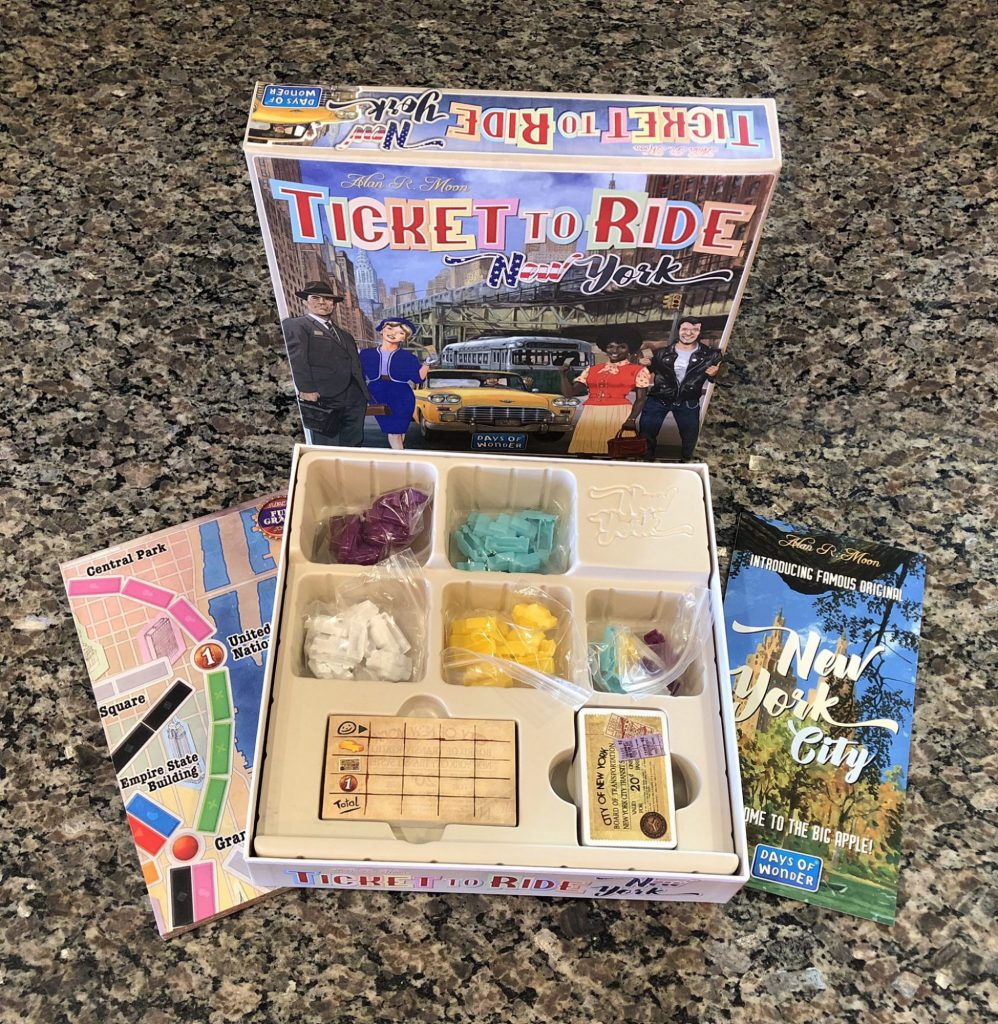 Ticket to Ride: New York components and insert