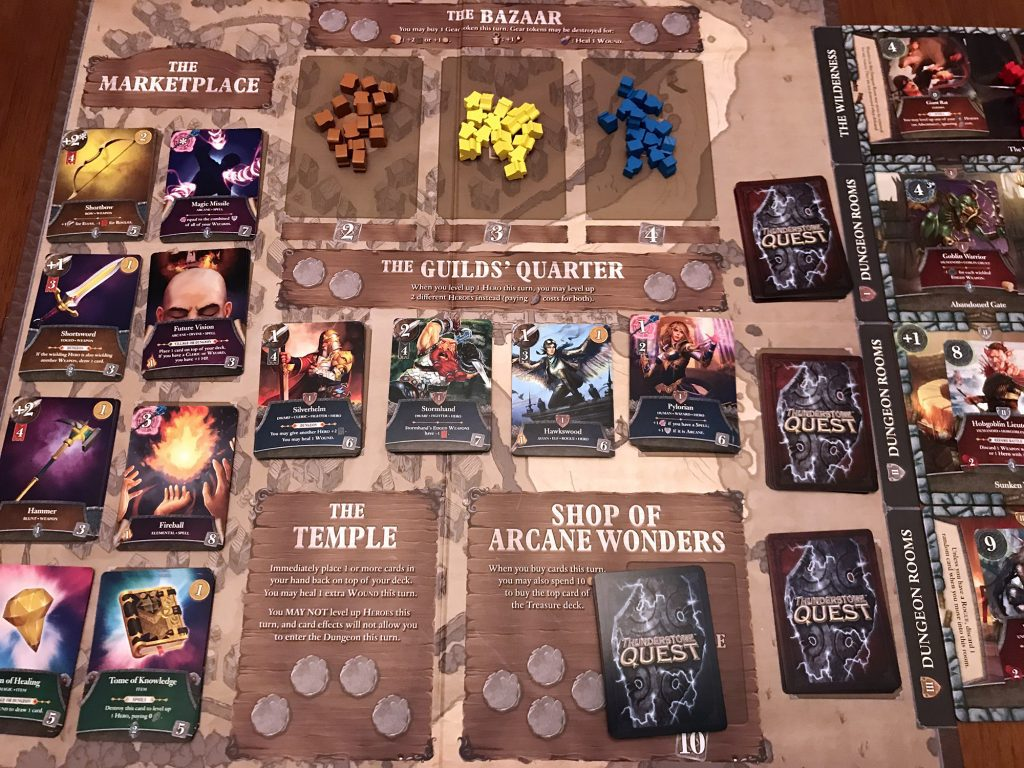 Thunderstone Quest village board