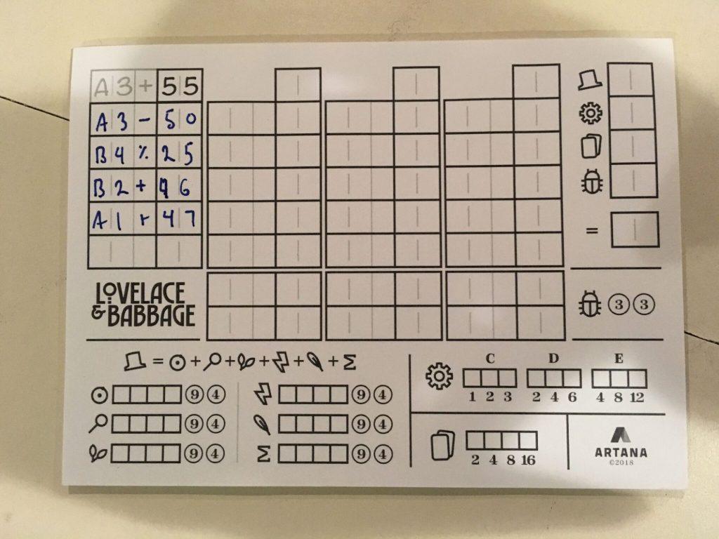 Lovelace Game Board