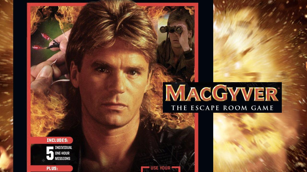 MacGyver: Escape Room Board Game header