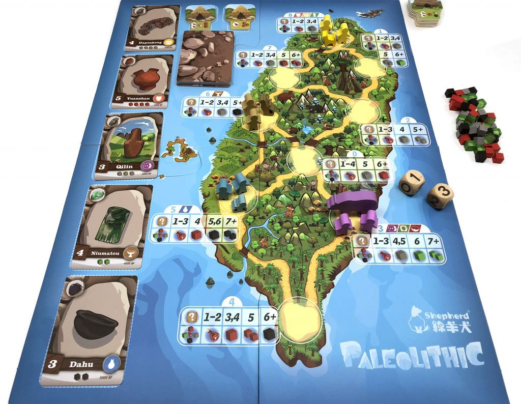 Paleolithic game board set up