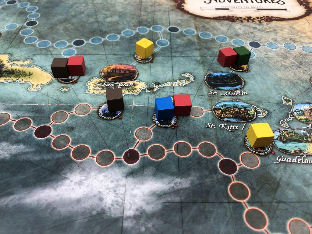 Merchant ships on the board