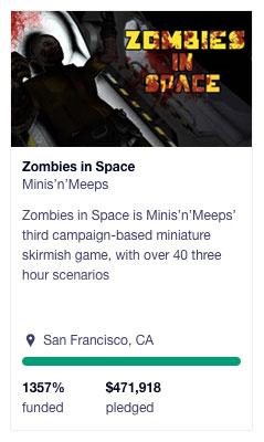 Zombies in Space kickstarter banner