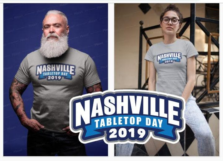 Nashville Tabletop Day 2019 event t-shirt