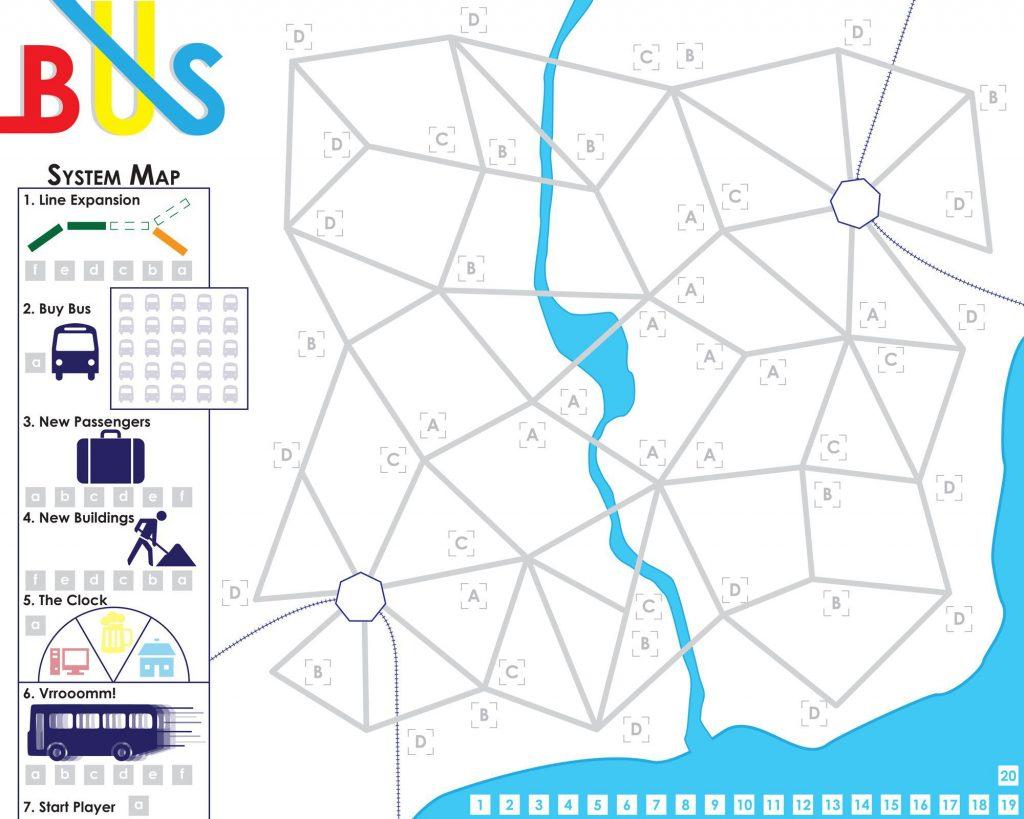 Bus transit map