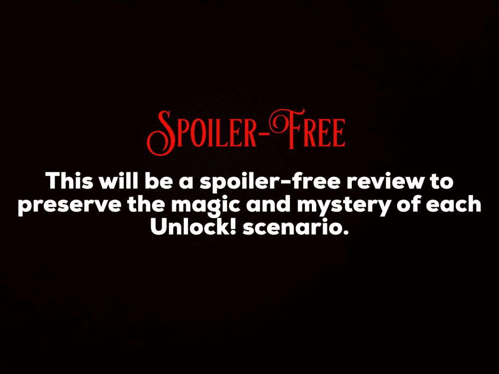 Spoiler free disclaimer