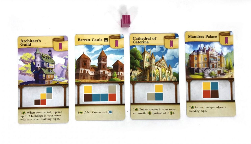 Tiny Towns Monument cards