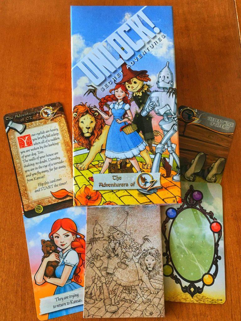Unlock! Adventurers of Oz components