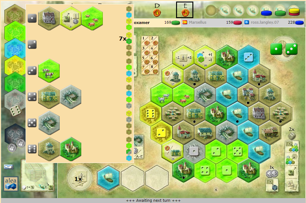 Castles of Burgundy on Yucata