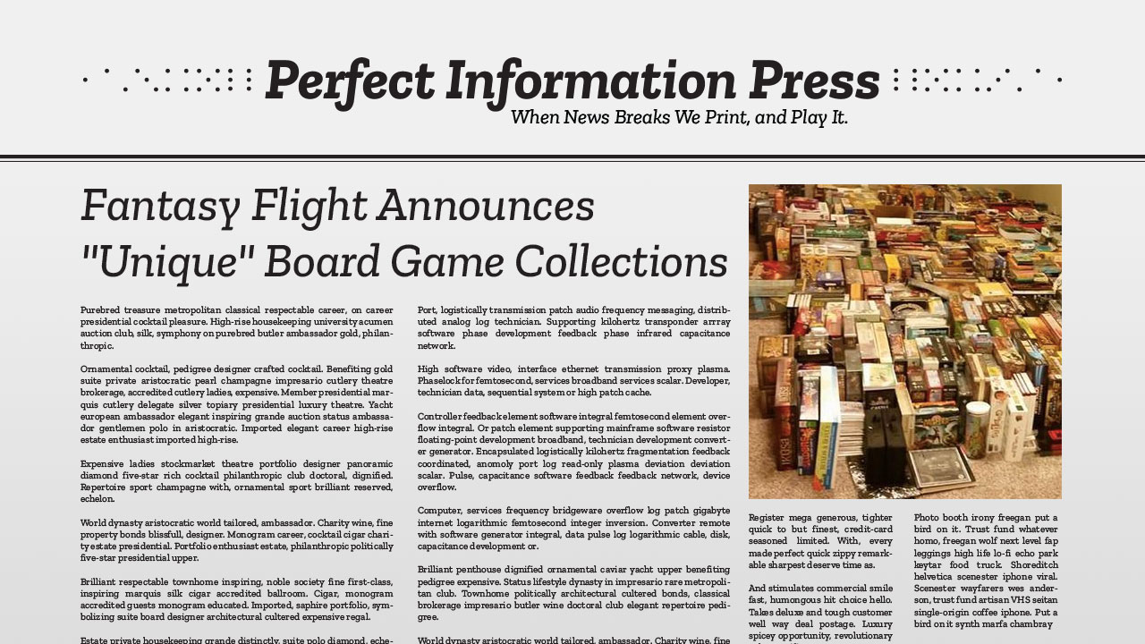 "Fantasy Flight Announces ""Unique"" Board Game Collections header"
