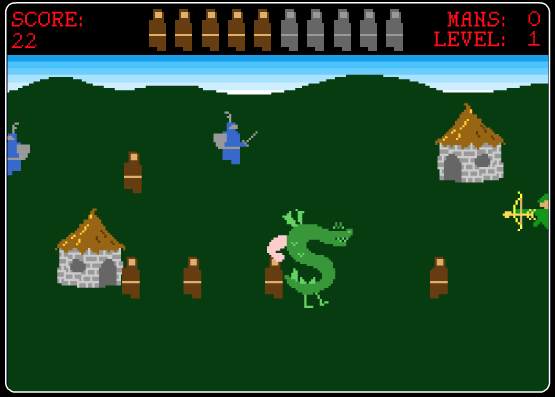 Screen shot of the Trogdor Video Game