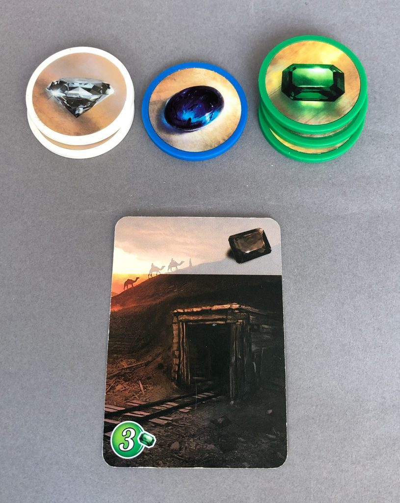 Buying a card for 3 Green tokens