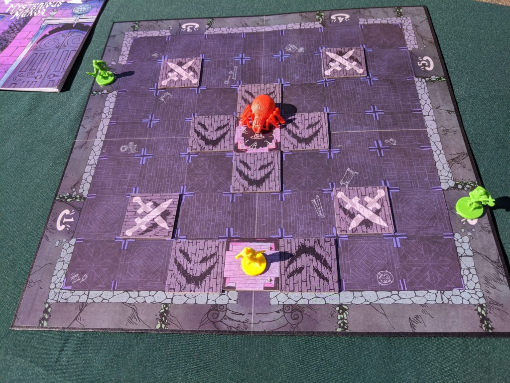 The initial setup of the board for 5 players. The skeletons are placed per die roll.