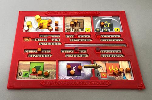 A 3D Printed Terraforming Mars Player Board.