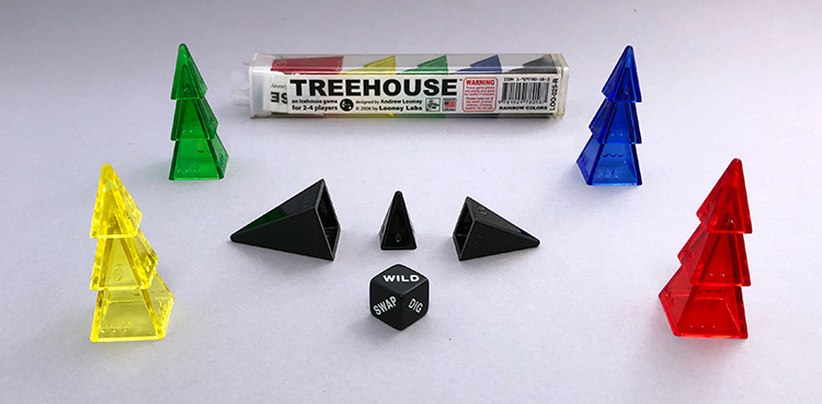 The start of a game of Treehouse